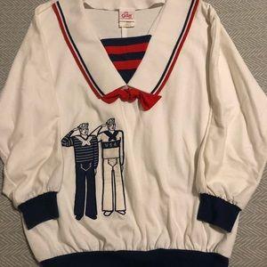 Vintage Sailor Themed Top